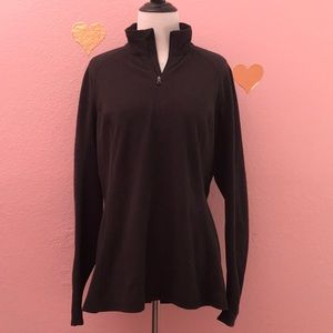 The North Face embossed fleece zip up sweater